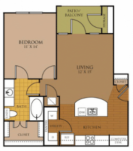 One bedroom apartments for rent in San Antonio, TX