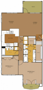 Two bedroom apartments for rent in San Antonio, TX