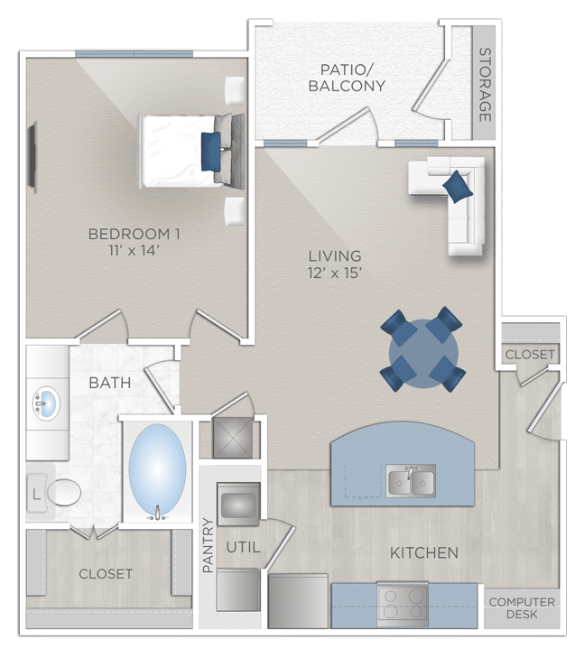 One Bedroom Apartmentt