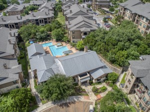 3 Bedroom Apartments for Rent in San Antonio, TX - Aerial View of Community, Clubhouse & Pool