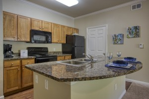 Two Bedroom Apartments for Rent in San Antonio, TX - Model Kitchen with Breakfast Bar