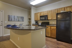 Two Bedroom Apartments for Rent in San Antonio, TX - Model Kitchen with Breakfast Bar (2)
